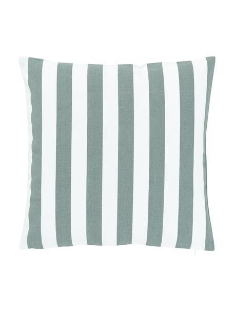Federa arredo a righe color verde salvia/bianco Timon, 100% cotone, Verde, Larg. 40 x Lung. 40 cm
