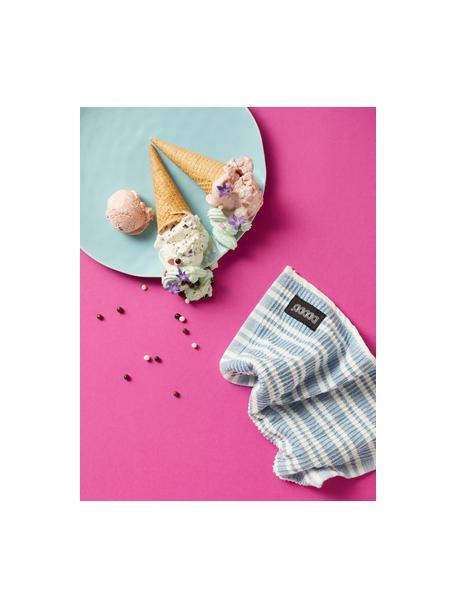 Reinigungstücher Basic Clean, 4 Stück, Baumwolle, Blau, Weiß, 30 x 30 cm