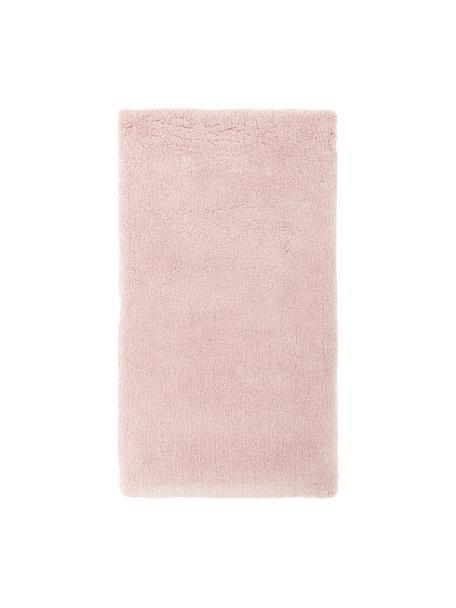Tappeto morbido e a pelo lungo rosa Leighton, Retro: 70% poliestere, 30% coton, Rosa, Larg. 80 x Lung. 150 cm (taglia XS)