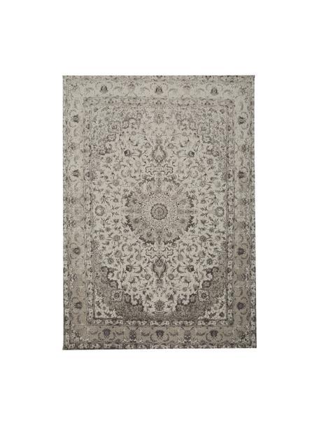 Tappeto vintage in ciniglia tessuto a mano Sofia, Retro: 100% cotone, Beige, grigio, Larg.160 x Lung. 230 cm (taglia M)
