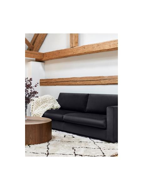 Fluwelen bank Balmira (3-zits) in donkergrijs, Bekleding: fluweel (polyester), Frame: massief grenenhout, Poten: massief gelakt berkenhout, Fluweel donkergrijs, B 240 x D 96 cm