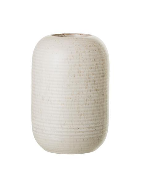 Vase Aya aus Steingut in Beige, Steingut, Beige, Ø 11 x H 17 cm