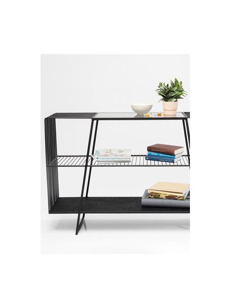 Libreria in nero Mesh, Nero, Larg. 120 x Alt. 78 cm