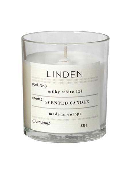 Duftkerze Linden (Lindenblüten), Natürliches Sojawachs, Glas, Transparent, H 8 cm