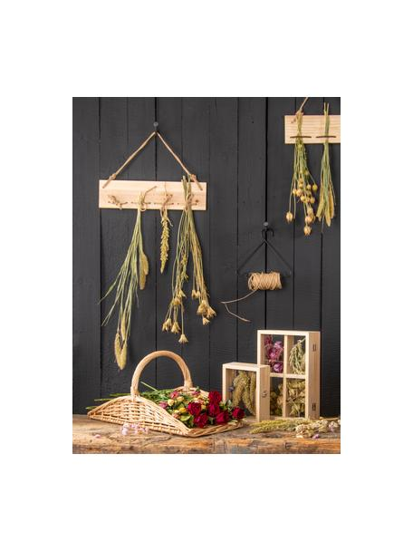 Cestino per raccolta fiori Larissa, Rametti di salice intrecciati, Beige, Larg. 50 x Alt. 22 cm