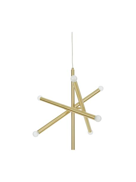 Design hanglamp Sticks, Baldakijn: geborsteld metaal, Vermessingd, B 60 cm