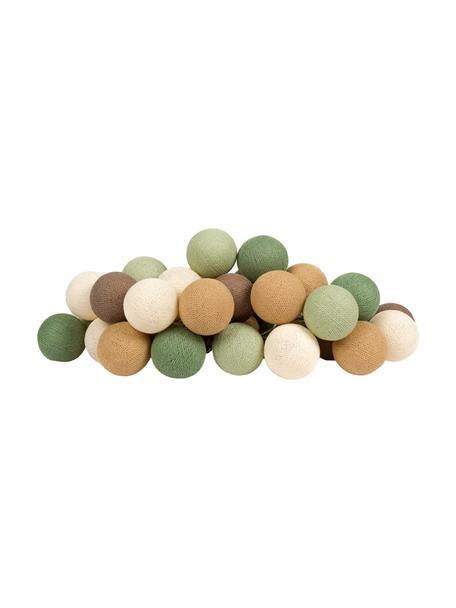Ghirlanda  a LED Colorain, 378 cm, 20 lampioni, Beige, tonalità marroni e verdi, Lung. 378 cm