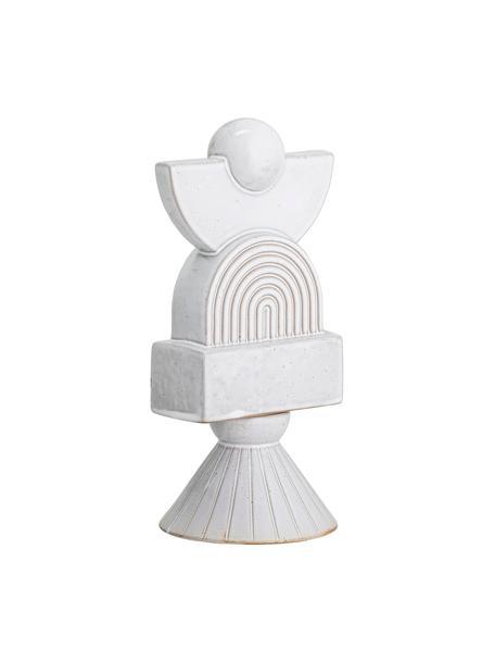 Decoratief object Myio, Keramiek, Wit, 14 x 27 cm