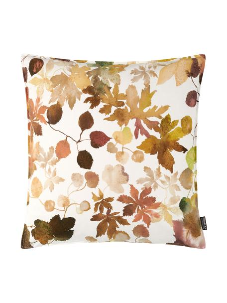 Federa arredo in cotone Otono, Cotone, Bianco, beige, tonalità marroni e rosse, Larg. 40 x Lung. 40 cm