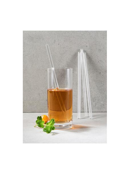 Glas-Strohhalme Long Drink mit Bürste, 4er-Set, Borosilikatglas, Transparent, L 20 cm