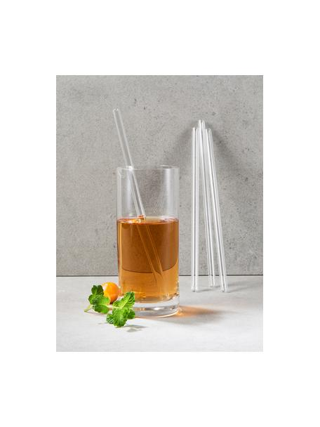 Set cannucce in vetro Set Long Drink 5 pz, Vetro borosilicato, Trasparente, Lung. 24  cm