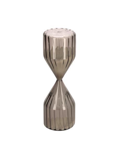 Zandloper Gerty van glas, Bruin, Ø 7 x H 22 cm