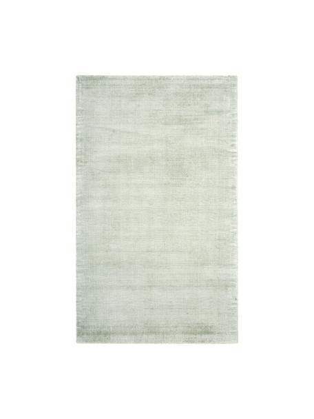 Ręcznie tkany dywan z wiskozy Jane, Szarozielony, S 90 x D 150 cm (Rozmiar XS)