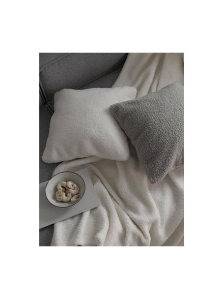 Teddy-Plaid Mille in Creme, Vorderseite: 100% Polyester (Teddyfell, Rückseite: 100% Polyester, Creme, 150 x 200 cm