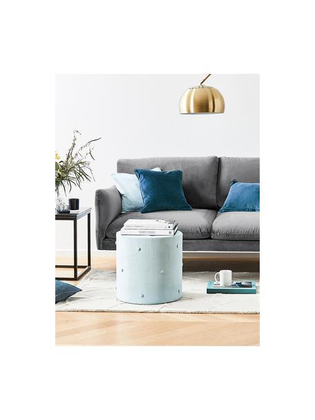 Samt-Sofa Moby (2-Sitzer) in Grau mit Metall-Füssen, Bezug: Samt (Hochwertiger Polyes, Gestell: Massives Kiefernholz, Samt Grau, B 170 x T 95 cm