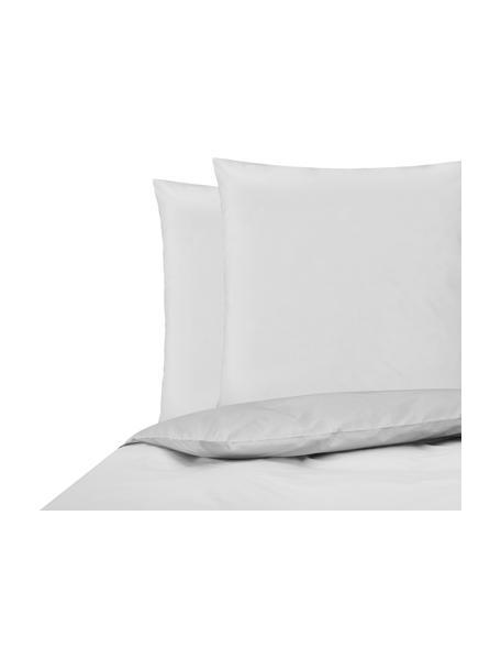 Parure copripiumino in percalle Elsie, Tessuto: percalle Densità del filo, Grigio chiaro, 255 x 200 cm