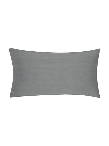 Gewaschene Baumwoll-Kissenbezüge Arlene in Dunkelgrau, 2 Stück, Webart: Renforcé Fadendichte 144 , Dunkelgrau, 40 x 80 cm