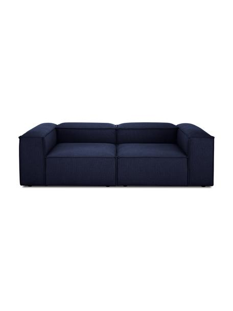 Modulaire bank Lennon (3-zits) in blauw, Bekleding: 100% polyester De slijtva, Frame: massief grenenhout, multi, Poten: kunststof De poten bevind, Geweven stof blauw, 238 x 119 cm