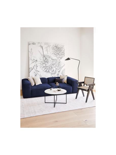 Sofá modular Lennon (3plazas), Tapizado: 100%poliéster Alta resis, Estructura: madera de pino maciza, ma, Patas: plástico Las patas están , Tejido azul, An 238 x F 119 cm