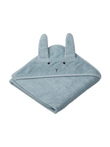 Toalla capa Albert Rabbit, 100%algodón orgánico (felpa), Azul, An 70 x L 70 cm