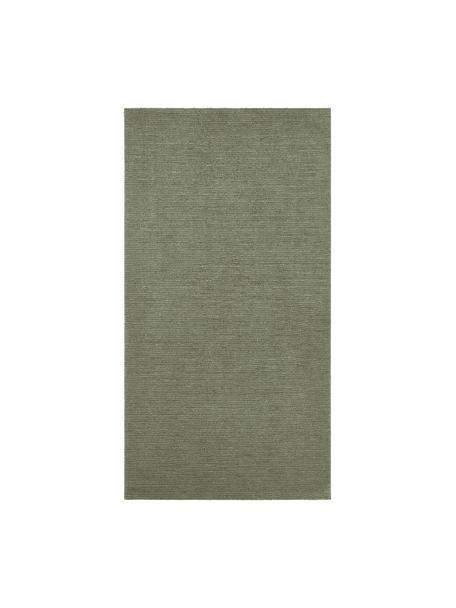 Vloerkleed Supersoft, Bovenzijde: polyester, Onderzijde: textiel, Mosgroen, B 80 x L 150 cm (maat XS)