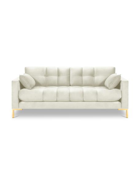 Sofa z aksamitu Mamaia (2-osobowa), Tapicerka: 100% aksamit poliestrowy , Nogi: metal powlekany, Jasny beżowy, S 152 x G 92 cm