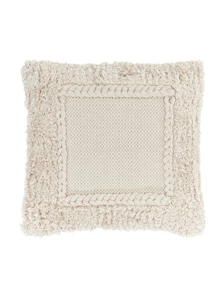 Funda de cojín texturizada Selina, 100%algodón, Beige, An 45 x L 45 cm