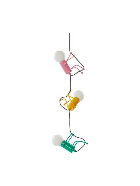 Lampa wisząca Chicos, Żółty, zielony, różowy, Ø 18 x W 17 cm