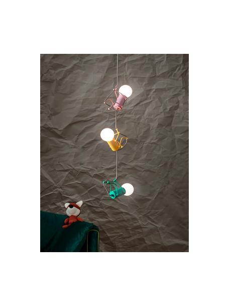 Lámpara de techo Chicos, Cable: cubierto en tela, Amarillo, verde, rosa, Ø 18 x Al 17 cm