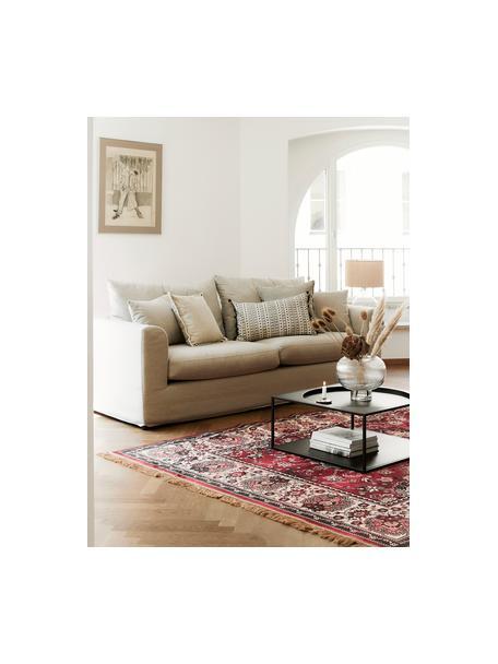 Sofa Zach (2-Sitzer) in Beige, Bezug: Polypropylen Der hochwert, Füße: Kunststoff, Webstoff Beige, B 191 x T 90 cm