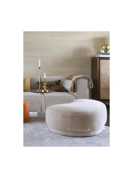 Fluwelen zitbank Coconino in beige, gestoffeerd, Bekleding: katoenfluweel (89% katoen, Frame: hout, Beige, 160 x 36 cm