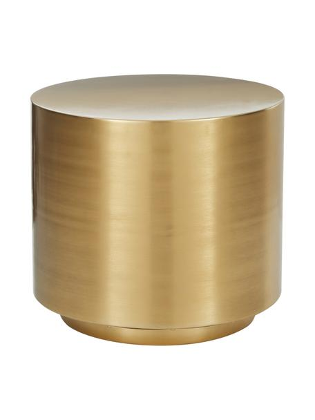 Beistelltisch Step aus Metall in Messingfarben, Metall, gebürstet, Messingfarben, Ø 50 x H 46 cm