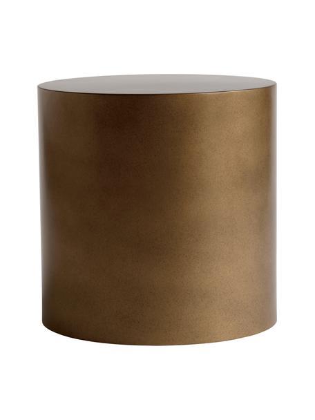 Tavolino rotondo da salotto in metallo color miele Metdrum, Metallo, Color miele, Ø 40 x Alt. 40 cm