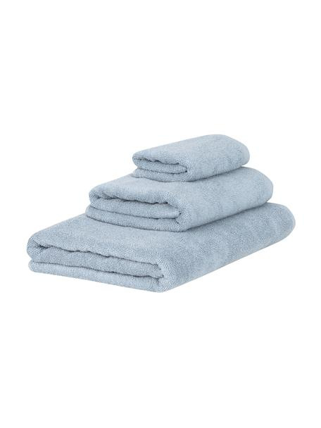 Set de toallas Comfort, 3pzas., Azul claro, Set de diferentes tamaños