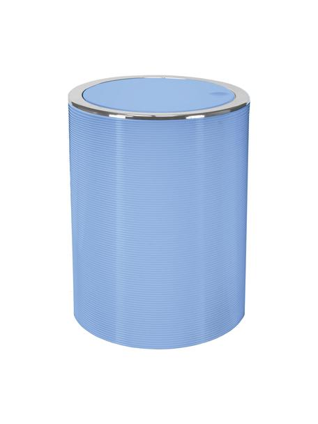 Afvalemmer Trace met klapdeksel, Kunststof, Blauw, Ø 19 x H 25 cm