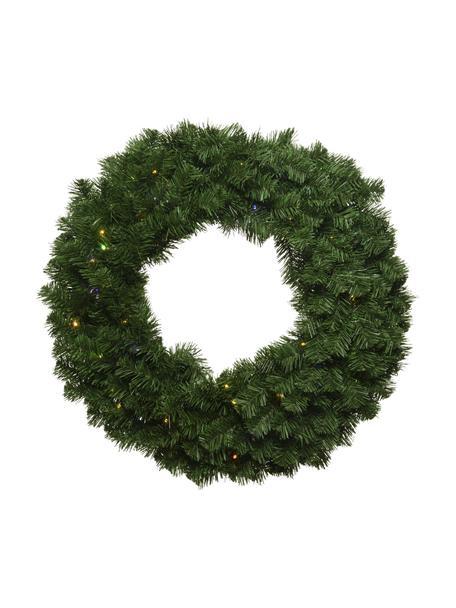 LED kerstkrans Imperial, Kunststof, Groen, Ø 60 x H 8 cm