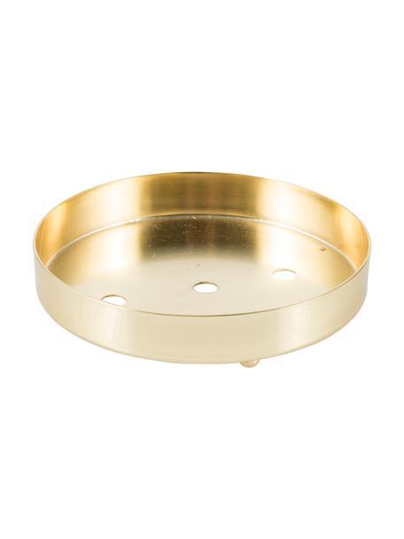 Seifenschale Guild, Rostfreier Stahl, Goldfarben, Ø 10 x H 2 cm