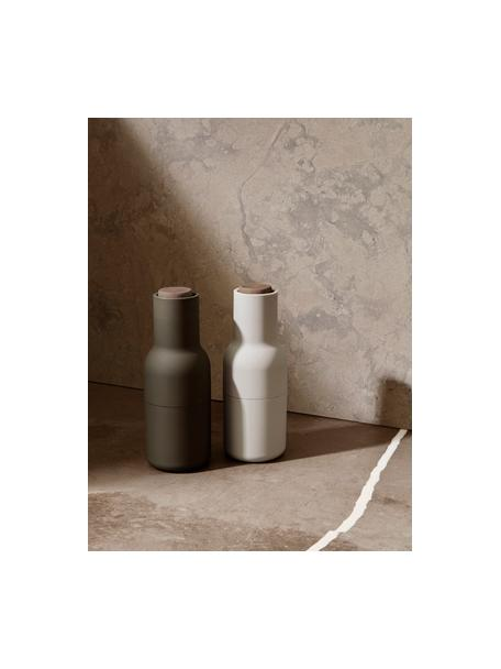 Komplet młynków Bottle Grinder, 2 elem., Korpus: tworzywo sztuczne, Ciemnozielony, beżowy, Ø 8 x W 21 cm