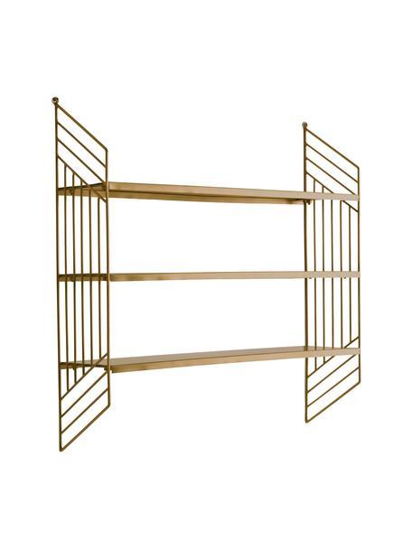 Libreria da parete in metallo ottonato Willie, Metallo, Ottonato, Larg. 61 x Alt. 61 cm