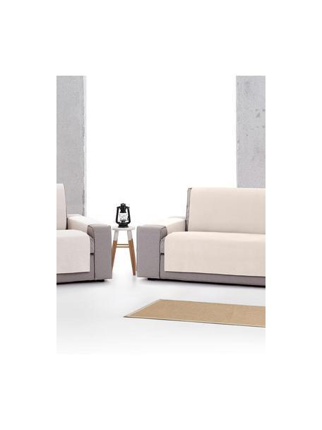 Funda de sillón Levante, 65%algodón, 35%poliéster, Crema, An 55 x L 220 cm