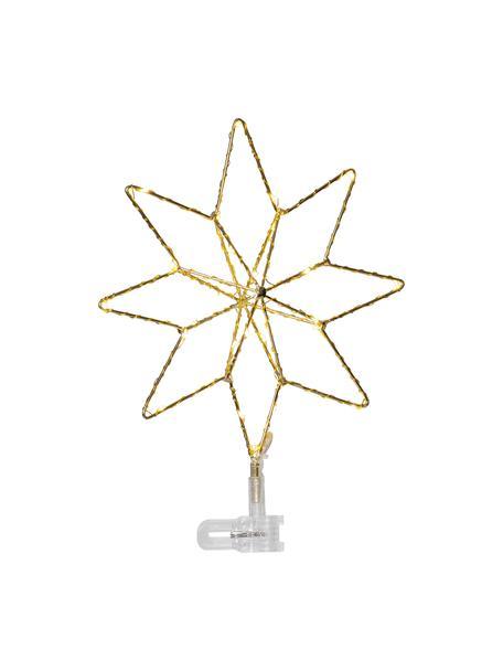 Estrella Árbol de Navidad LED Topsy, funciona a pilas, Cable: plástico, Dorado, An 23 x Al 30 cm