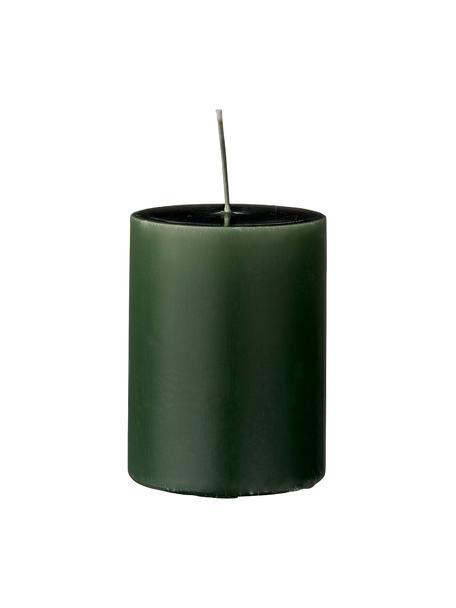 Stumpenkerzen Lulu, 4 Stück, Wachs, Waldgrün, Ø 7 x H 10 cm