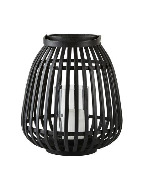 Lanterna Teresa, Bambù rivestito, Nero, Ø 25 x Alt. 30 cm
