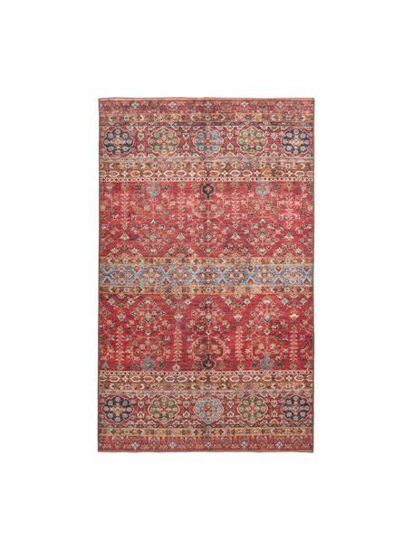 Niederflor-Teppich Femal im Orient Style, Flor: 100% Polyester, Rot, Mehrfarbig, B 110 x L 180 cm (Größe S)