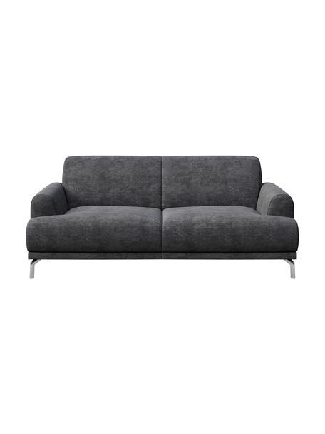 Sofaz Zero Spot System Puzo (2-osobowa), Tapicerka: 100% poliester z Zero Spo, Nogi: metal lakierowany, Ciemnyszary, S 170 x G 84 cm