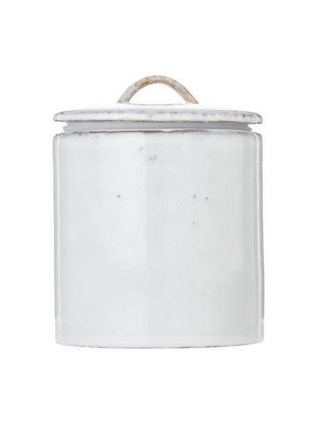 Ręcznie wykonany pojemnik do przechowywania z kamionki Nordic Sand, Kamionka, Piaskowy, Ø 12 x W 12 cm