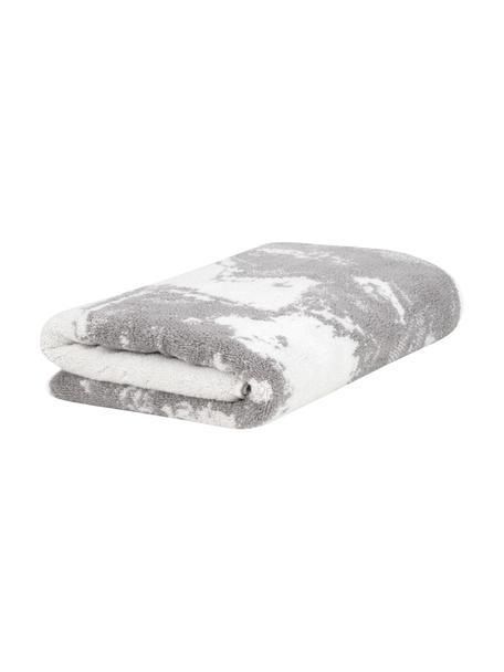Handdoek Malin in verschillende formaten, met marmer-print, Grijs, crèmewit, Gastenhanddoek
