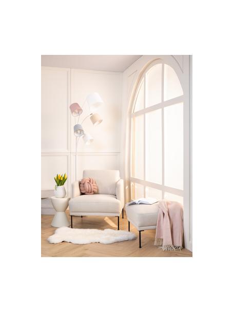 Fotel z metalowymi nogami Fluente, Tapicerka: 80% poliester, 20% ramia , Nogi: metal malowany proszkowo, Beżowy, S 74 x G 85 cm