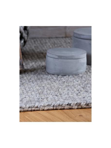 Ręcznie tkany dywan z wełny z frędzlami Alvin, Szary, melanżowy, S 80 x D 150 cm (Rozmiar XS)
