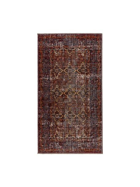 In- & outdoor vloerkleed Tilas Izmir in donkerrood, Orient Style, Donkerrood, mosterdgeel, kakigroen, B 80 x L 150 cm (maat XS)